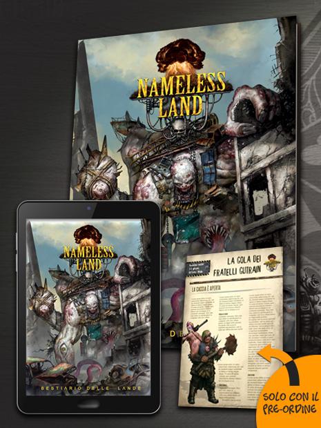 Nameless Land - Bestiario delle Lande con PDF incluso e contenuto promozionale, novità di settembre