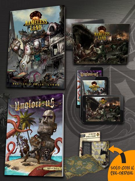 Aces Games - Unglorious e Nameless Land GdR Bundle Onde Radioattive con Sea of Bones, Schermo e Bestiario
