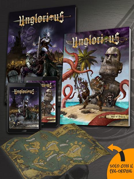 Aces Games - Unglorious GdR Bundle Viaggiatore del Tempo Morto, con manuale base e Sea of Bones inclusi