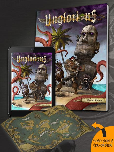 Unglorious GdR Necro-fantasy - Sea of Bones con PDF incluso in bundle, espansione novità in uscita in pre-ordine a settembre