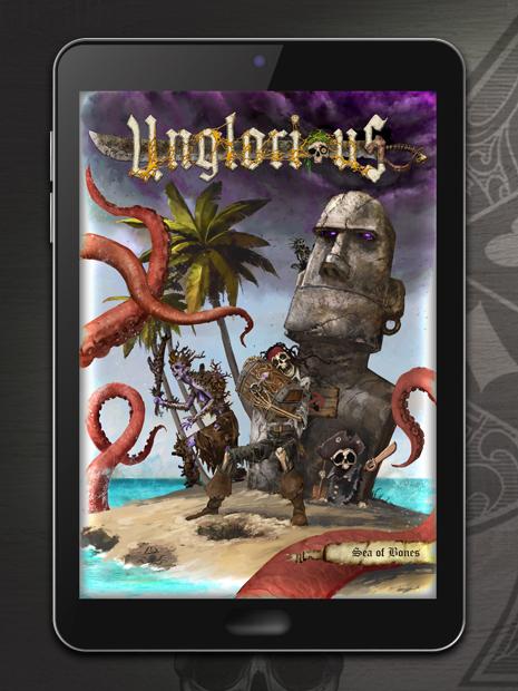 Unglorious GdR Necro-fantasy - Sea of Bones PDF, formato digitale, espansione novità in uscita in pre-ordine a settembre