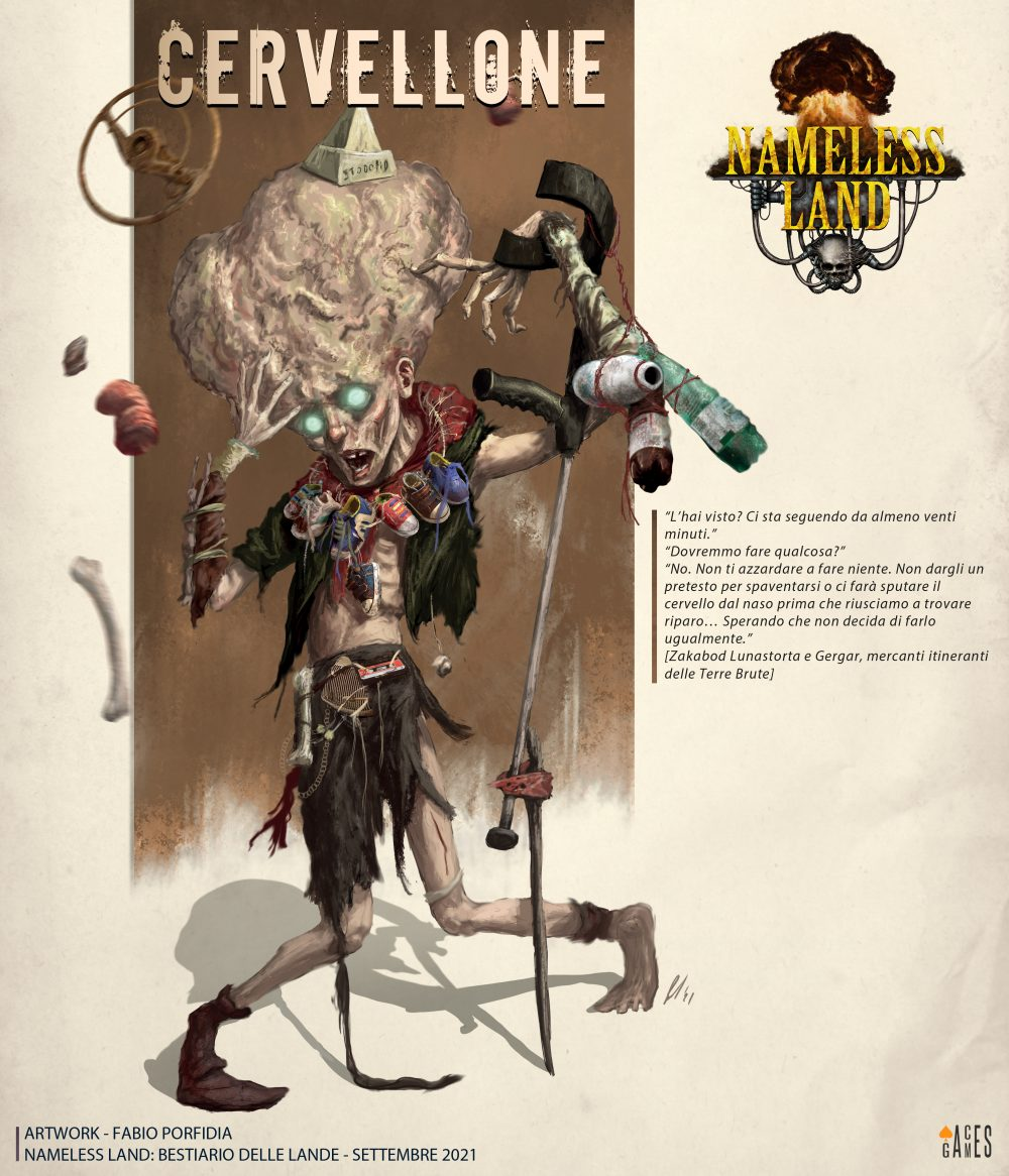 Aces Games - Nameless Land gdr, profilo del Bestiario delle Lande, Cervellone