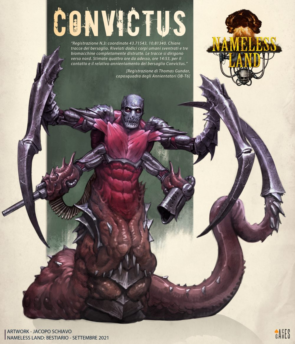 Aces Games - Nameless Land gdr, profilo del Bestiario delle Lande, Convictus