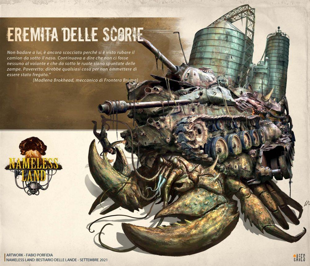 Aces Games - Nameless Land gdr, profilo del Bestiario delle Lande, Eremita delle Scorie