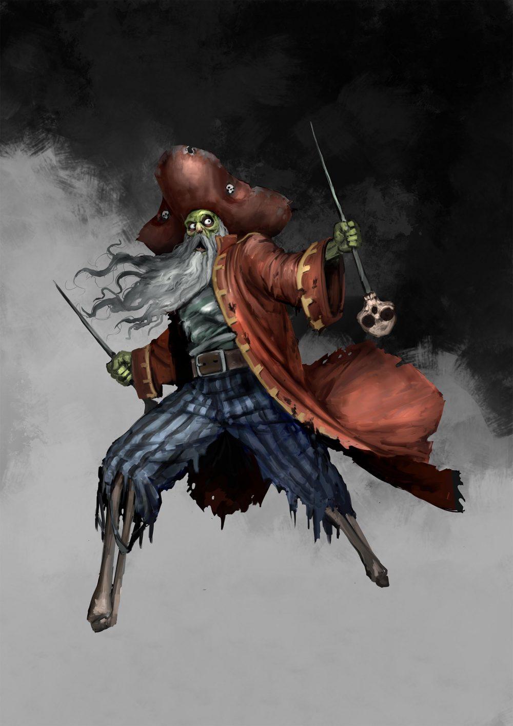 Aces Games - Unglorious GdR necro-fantasy, pirata zombie con poteri voodoo per Sea of Bones