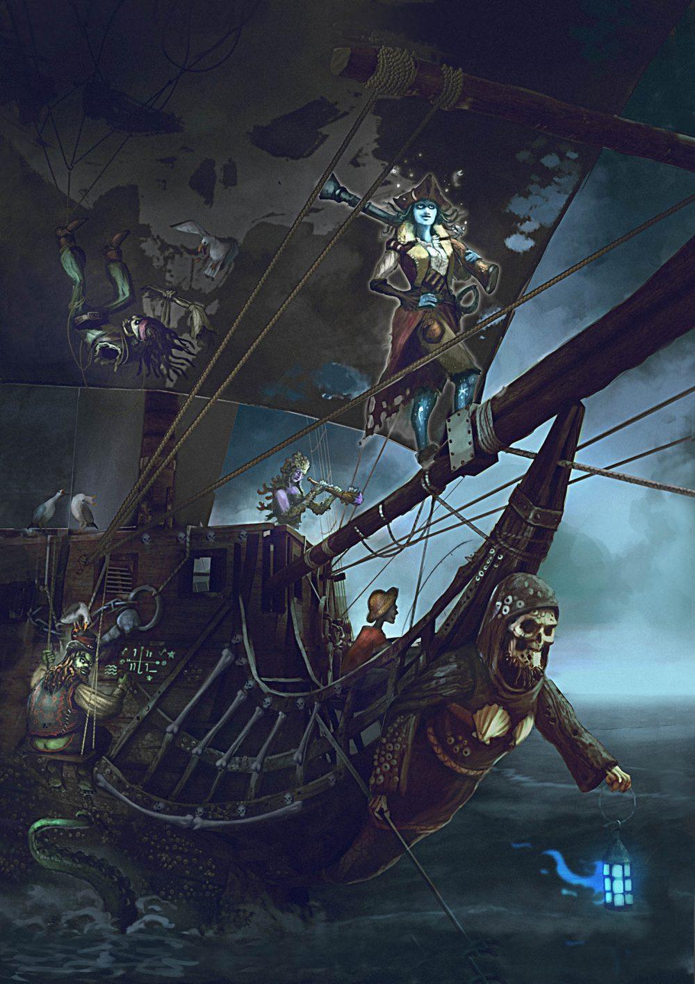 Aces Games - Unglorious GdR necro-fantasy, pirati non morti in mare aperto per Sea of Bones
